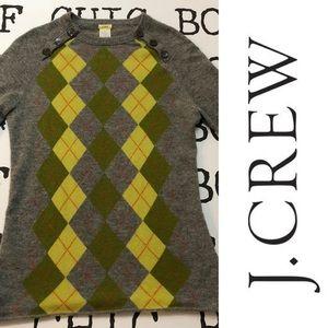 J. CREW 💯% Cashmere Argyle Sweater